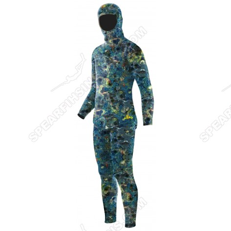 Elios Tailor Made Blue Reef Camo Spearfishing Wetsuit