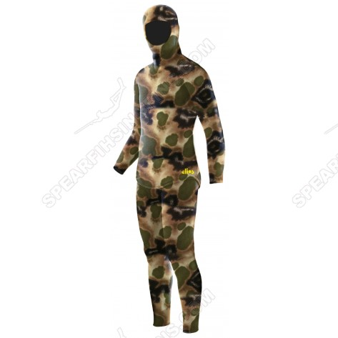 Elios Tailor Made Classic Brown Hydro Camo Spearfishing Wetsuit