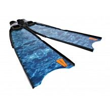 Leaderfins Aqua Blue Camouflage Spearfishing Fins