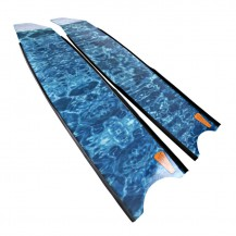 Aqua Blue Camouflage Spearfishing Blades
