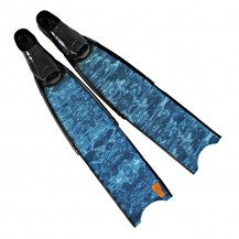 3D Aqua Camouflage Spearfishing Fins