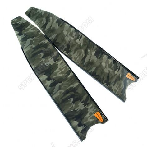 Leaderfins Green Camouflage Pro Spearfihing Blades