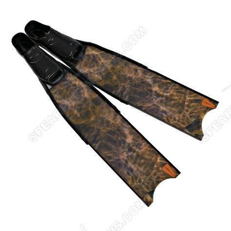 Leaderfins Brown Camouflage Pro Spearfihing Fins