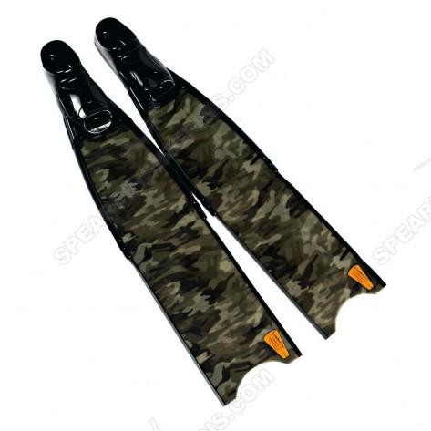 Leaderfins Green Camouflage Pro Spearfihing Fins + Box