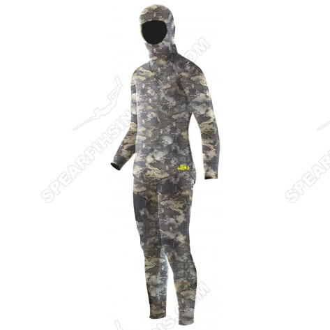 Elios 3D Brown Hydro Camo Spearfishing Wetsuit