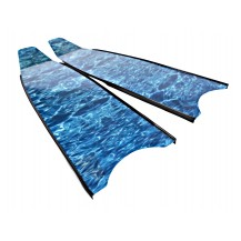 Leaderfins Aqua Blue Camouflage Spearfishing Blades